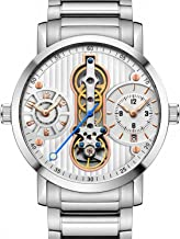 Mens watches Automatic Mechanical Tourbillon Stainless Stell Date Waterproof Creative Skeleton Watch