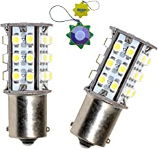 HQRP 2-Pack BA15s Bayonet Base 30 LEDs SMD 3528 LED Bulb Warm White for #1141, 1156 Jayco RV Interior/Porch Lights Replace...