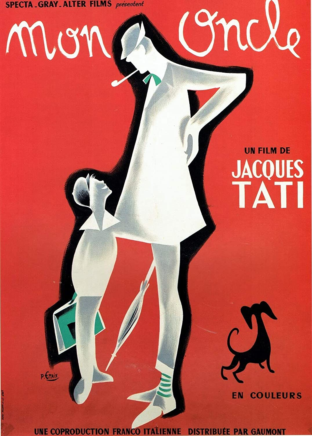 Black Creations Mon Uncle French 1958 Film Poster Canvas Picture Art Print Premium Quality A0 A1 A2 A3 A4 (A0 Canvas (30 40))
