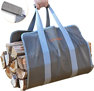 GALAFIRE Wood Carrier for Firewood with Handles, Canvas Firewood Sling Premium Quality..