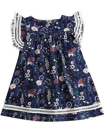 5bb72c0417698 女の子の子供のワンピースドレスミニドレストップスレースの花柄チュチュスカートキッズ