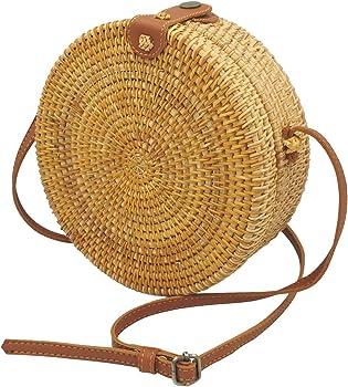 Fengyi Handwoven Round Rattan Bag