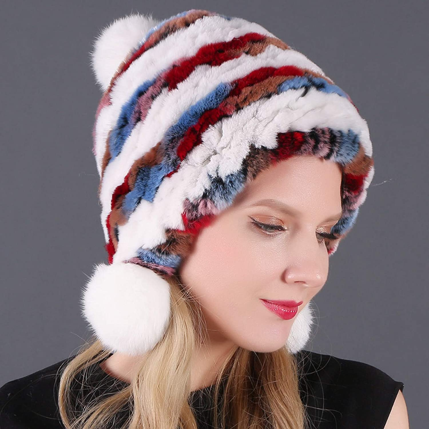 BELEMON We OFFer at cheap prices Winter Hats for Women Thick Real Hat Fur Credence Rabbit Warm Lad