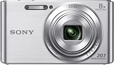 Sony DSC-W830/S Cybershot 20.1MP Point & Shoot Digital Camera (Silver) with 8X Optical Zoom and Camera Case