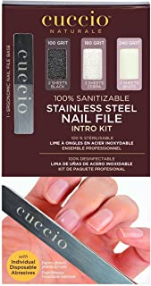 Cuccio Stainless Steel Nail File Pro Pack, Color may vary