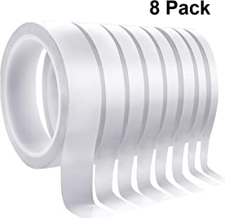 8 Rolls Double-Sided Tape Adhesive Sticky Tapes for Scrapbooking, Photos, Invitation Cards, Paper, DIY Crafts and Office School Stationery Supplies, Per 16.6 Yards(Wide:6mm,9mm,12mm,15mm,25mm)