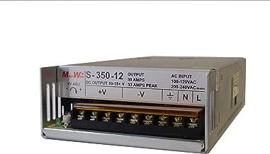 MegaWatt (™) S-350-12 30 Amp 9.5-15 Volts Adjustable Ham CB Radio Power Supply 13.8V 12V 33A Peak Not a Clone Real MegaWatt MW