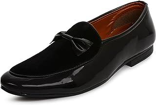 BUWCH Men Formal Brown Synthetic Leather Loafer & Mocassins Shoe-8UK