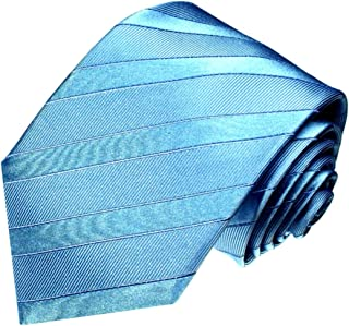 Lorenzo Cana - Luxus Krawatte aus 100% Seide - Seidenkrawatte blau türkis himmelblau unifarben - 77017