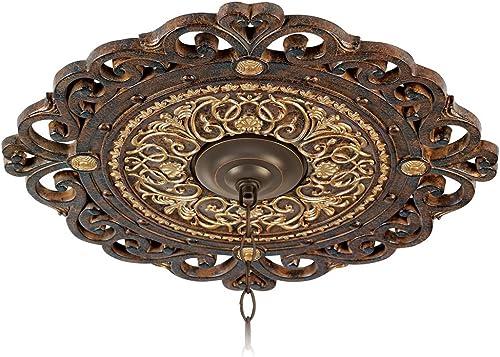 "wholesale Zaragoza Golden high quality Bronze 24"" Wide lowest Ceiling Medallion sale"