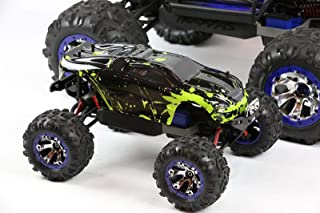 SummitLink Compatible Custom Body Muddy Green Over Black Replacement for 1/16 Scale RC Car or Truck (Truck not Included) SUMNE-BG-02