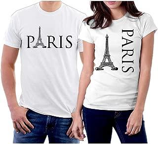 Matching Paris and Paris Couple T-Shirts