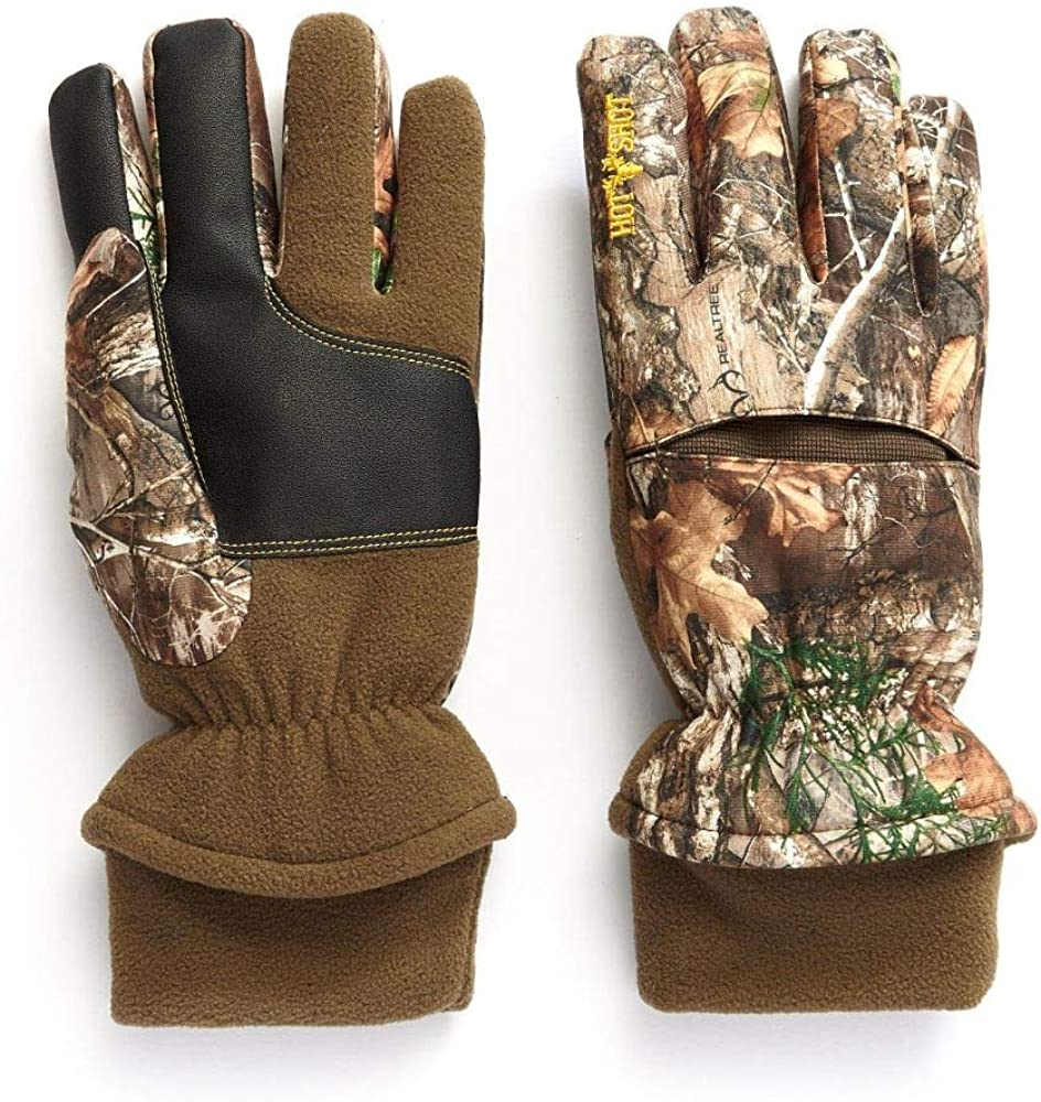 HOT SHOT Men's Camo Aggressor Gloves – Realtree Edge Outdoor Hunting Camouflage Gear