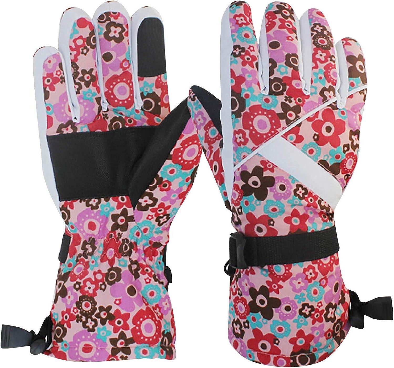 EseFGJK Waterproof Ski & Snow Gloves, Winter Gloves Warm Touchscreen Gloves Waterproof Outdoor Motorcycle Gloves