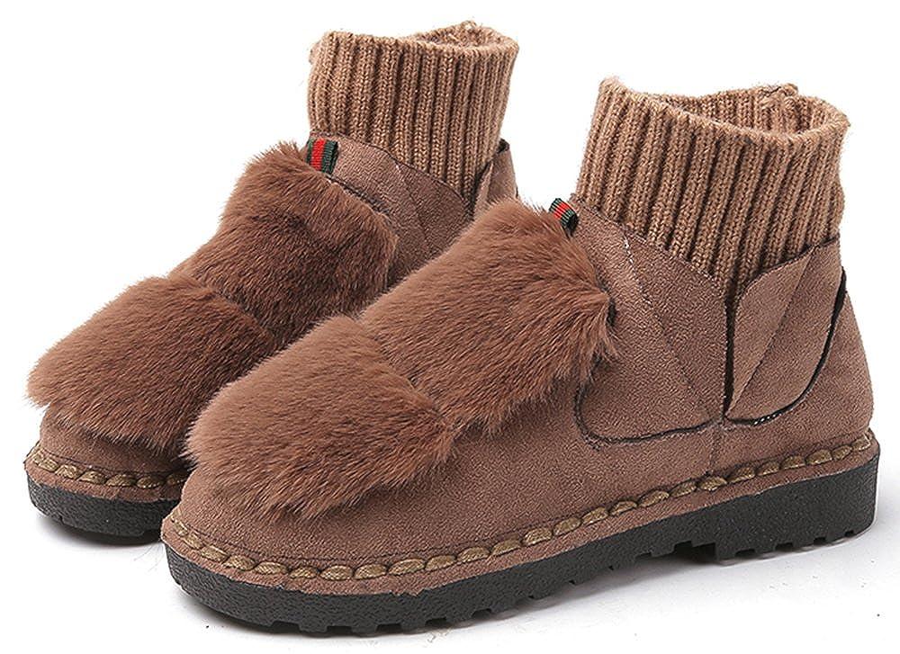 終了しましたクリップ蝶羽[XY-shoes] ウサギの毛皮のスノーブーツ学校の女の子のフラットショーツのブーツ単一の厚いブーツと足首のブーツ女性のぬいぐるみの靴