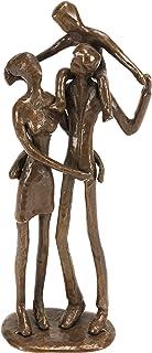 Danya B. Metal Art Shelf Decor - Bronze Sculpture - Couple with Child on Shoulders