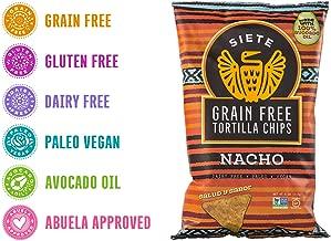 Siete Nacho Grain Free Tortilla Chips, 4 oz bag