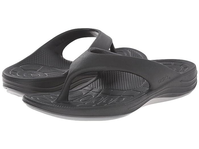 Aetrex  Lynco Flip (Black) Womens Sandals