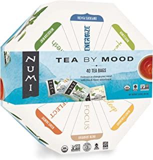 Numi Organic Tea By Mood Gift Set, 40 Count Tea Bag Assortment - Premium Organic Black, Pu-erh, Green, Mate, Rooibos & Her...