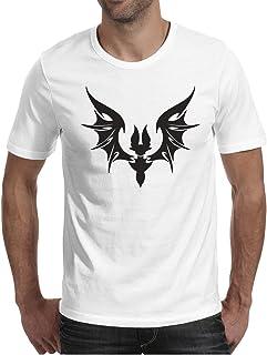 d9c82106 Eoyles Graphic Bat Tattoos Man Comfortable Artistic Round Neck White Tee  Shirt