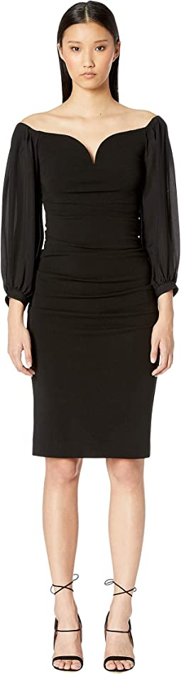 Structured Heavy Jersey Plunge Dress