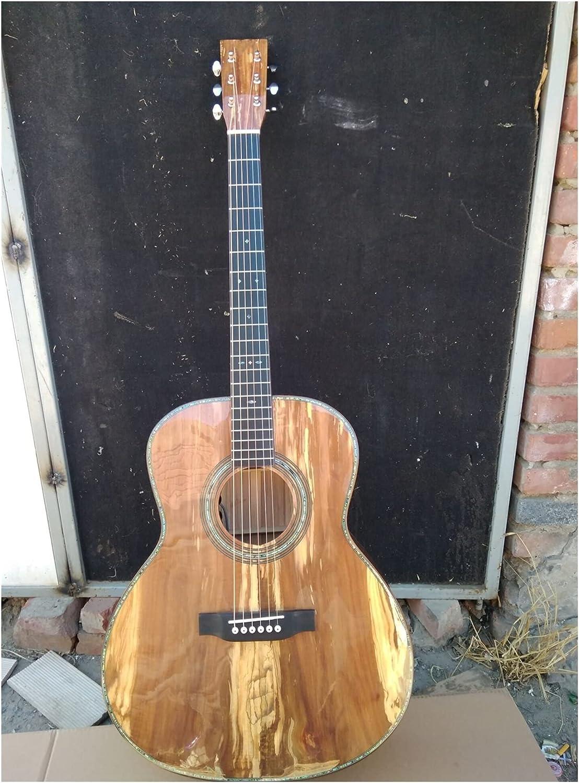 Guitarra Toda la guitarra europea sólida de manzana OM Sólido hecho a mano personalizado OM 14 Frete la guitarra acústica de madera de manzana adecuada para los jugadores en todas las etapas. guitarra