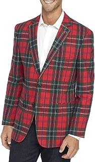 Crown & Ivy Men's Motion Flex Plaid Stretch Sportcoat