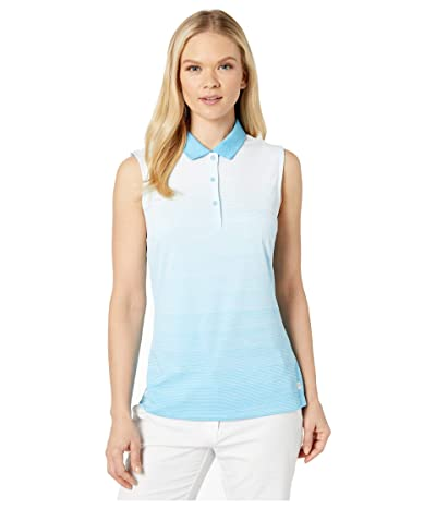 PUMA Golf Ombre Sleeveless Polo (Ethereal Blue) Women