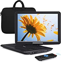 """NAVISKAUTO 16"""" Portable DVD Player with HDMI Input Carrying Bag Rechargeable Battery Support 1080P MP4 USB Sync Screen Reg..."""