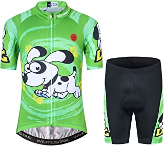 Children Cycling Jersey Set Clothing Boys Girls Shorts Pad Suits