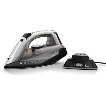 Sunbeam Cordless or Corded Iron | 1500-Watt Anti-Drip Ceramic Hybrid Clothes Steam Iron with Vertical Steam and Auto-Off Function (GCSBNC-200)