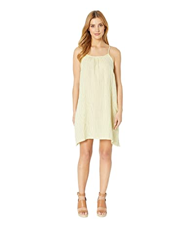 Dylan by True Grit Soft and Light Double Gauze Pinstripe Tank Dress with Pockets (Cali Yellow) Women