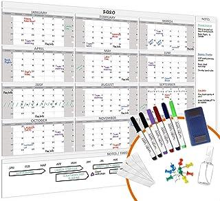 "HEA Large Dry Erase Wall Calendar 2020 58"" x 48""   Premium New Laminate   Blank Undated, Reusable & Erasable 12 Month Annu..."
