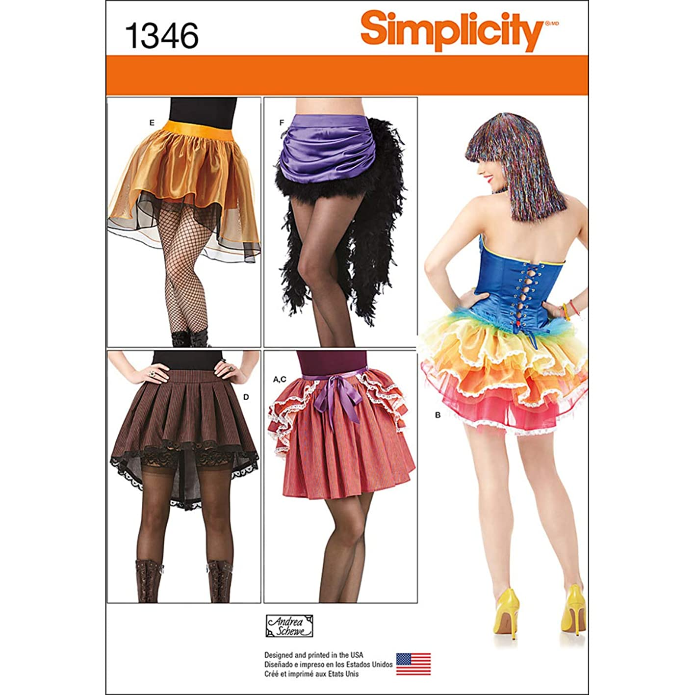 Simplicity 1346 Women's Skirt Costume Sewing Patterns, Size 14-22 qeicsghyrre355