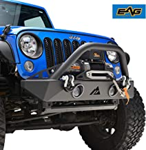 Stubby Front Bumper W/LED Lights & Winch Plate Fit for 07-18 Jeep Wrangler JK