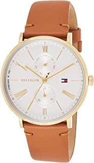 Tommy Hilfiger Womens Quartz Watch, Analog Display and Leather Strap 1782073
