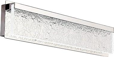 Lucalda Bathroom Vanity Lights Fixtures Dimmable 21W Modern Bathroom Lighting Fixtures Over Mirror 26 Inch Led Vanity Light S