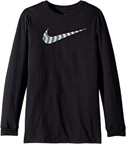 NSW Pattern Swoosh Long Sleeve T-Shirt (Little Kids/Big Kids)