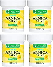 De La Cruz Arnica Salve for Cracked Skin, No Preservatives, Artificial Colors or Fragrances, Made in USA 2 OZ. (4 Jars)
