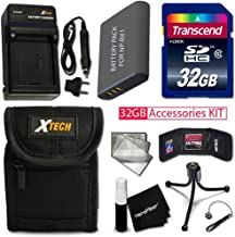 PRO 32GB Accessories KIT for SONY Cyber-Shot DSC-WX500, DSC-HX90V, DSC-WX350, DSC-WX300, DSC-HX50V, DSC-HX300 Includes 32GB High-Speed Memory Card + NP-BX1 Battery + AC/DC Charger + Fitted Case + MORE