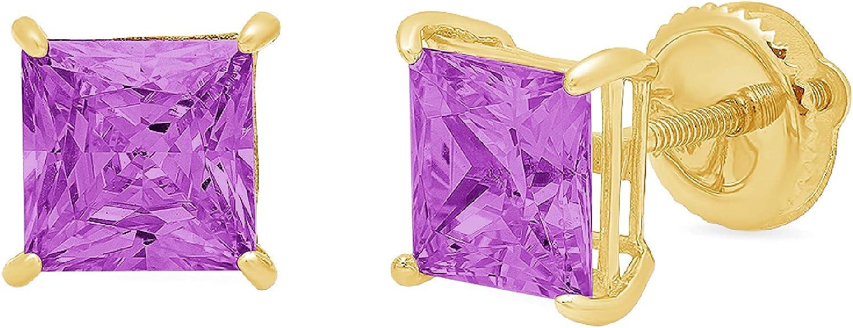 Clara Pucci 1.0 ct Brilliant Elegant Genuine Princess All items in the store Cut Flaw Solitaire