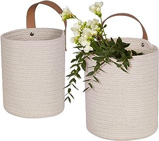 La Jolíe Muse Paniers Plante Suspendus Ensemble Lot de 2 Paniers Tissés Pot de Plante Floral pour Maison Décor