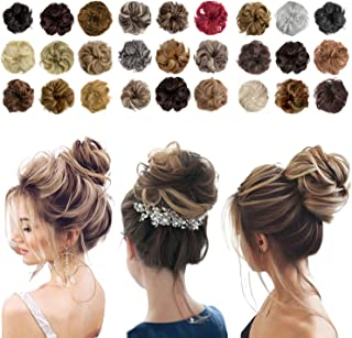 Messy Bun Hair Piece Thick Updo Scrunchies Hair Extensions Ponytail Hair Accessories Ash Blonde