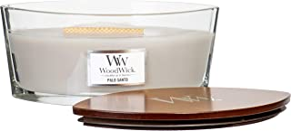 WoodWick Palo Santo Scented Crackling Wooden Wick Candle in Glass Vessel