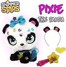 Shimmer Stars S19300 Pixie Panda Soft Plush Toy, Black, White