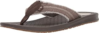 Margaritaville Mens MFM181312 Rag Time Canvas Frayed Flip Flop