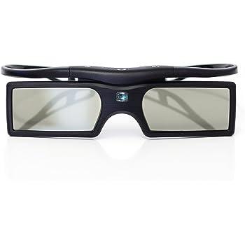 Occhiali 3D Shutter attivi PRECORN (alimentati a batteria) in nero per TV 3D Bluetooth