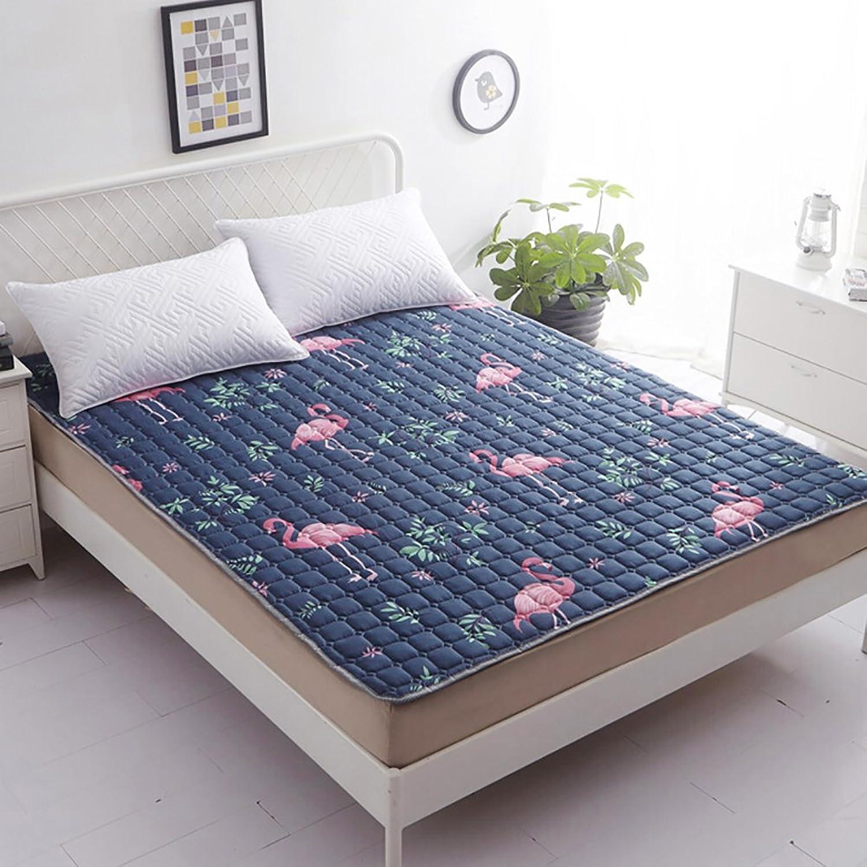 DULPLAY Non-Slip Soft mat,Mattress Topper,Tatami Mattress,Fiber Double Bed Size Bed Pads Four Seasons mat Collapsible-B 120x190cm(47x75inch)