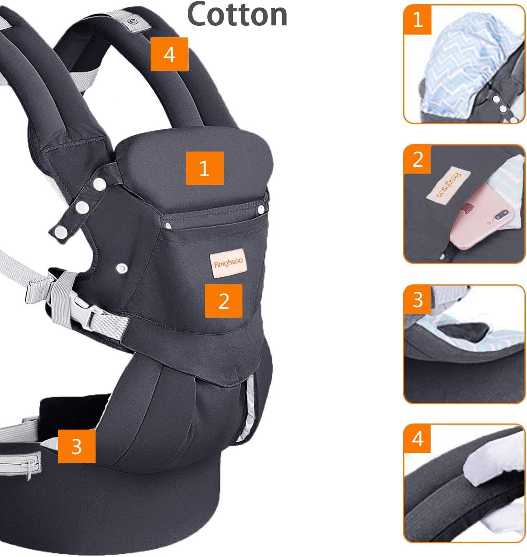 Portabeb/é Ergon/ómico Hipseat Baby Carrier Transpirable Multiposici/ón Ajustable para Beb/és Reci/én Nacidos Peque/ños Ni/ños Azul