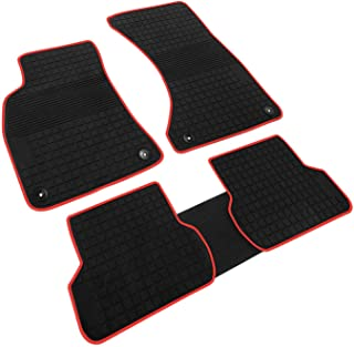 iallauto Compatible for 2016 2017 2018 Audi A4 Heavy Duty Rubber Front & Rear Floor Mats Liners Vehicle All Weather Guard Black Carpet